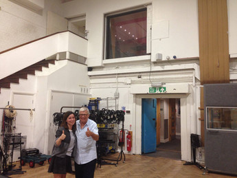 With Tristan Fry at Abbey Road Studios