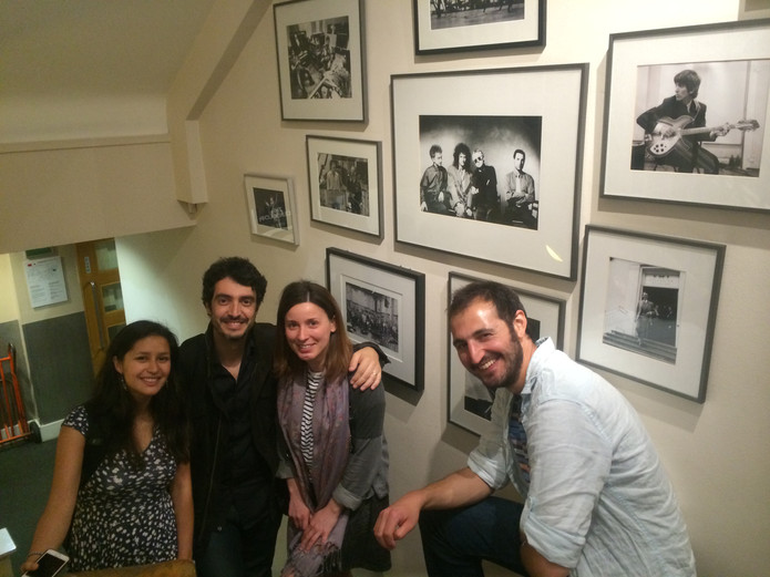 with Berklee Students at Abbey Road Studios