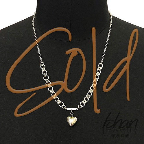N168-Chain Maille Heart