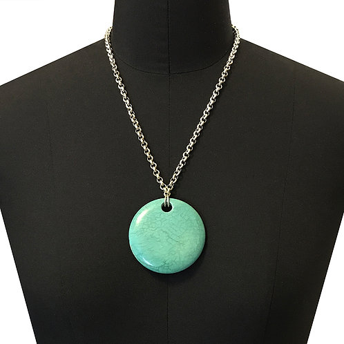 N159-Big Round Turquoise
