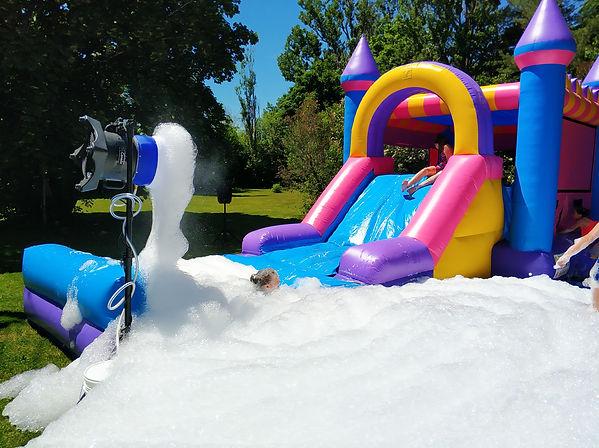 Water Slide & Foam Machine