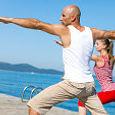 ACL rehab Yoga Pose