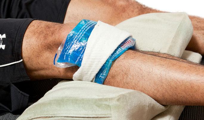 Knee Injury - Rest, Ice, Compress, Raise