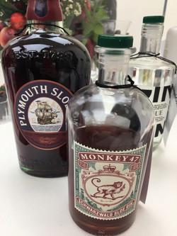Plymouth Sloe Gin & Monkey 47 Sloe Gin