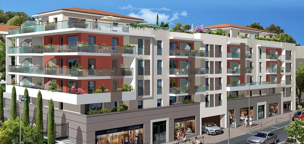 Terrasses du Château - 5300 m² - 95 Logements - Cagnes sur Mer - Sagec