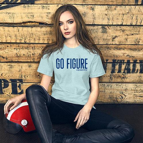 Go Figure | Short-Sleeve Unisex T-Shirt | Navy Text