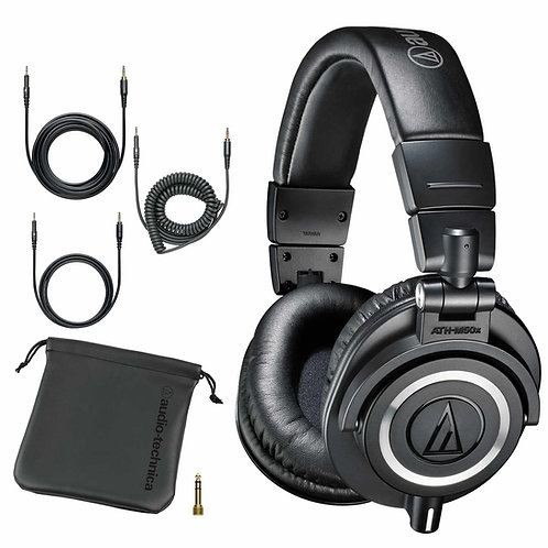 Audio Technica ATH-M50X Professional Studio Monitor Headphones