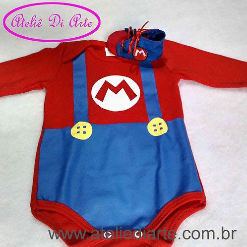 Conjunto de bebe masculino Mario Bros