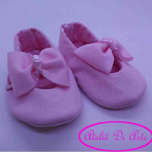 Sapatinho de bebê feminino rosinha