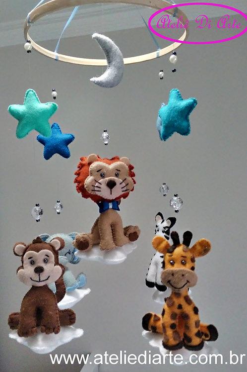Mobile para decoração do quarto do bebê Safári