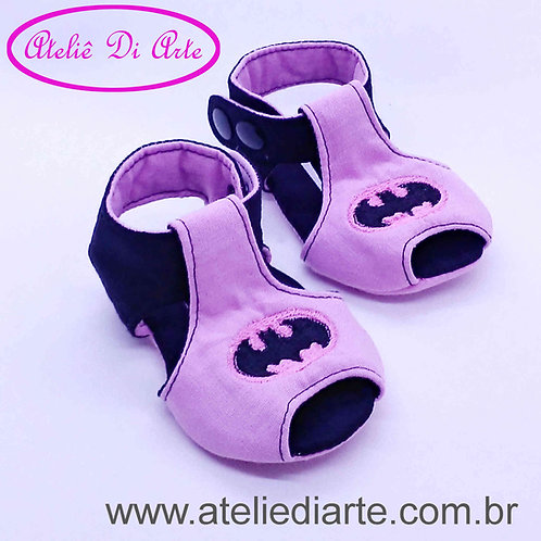 Sandalhinha feminina Batgirl