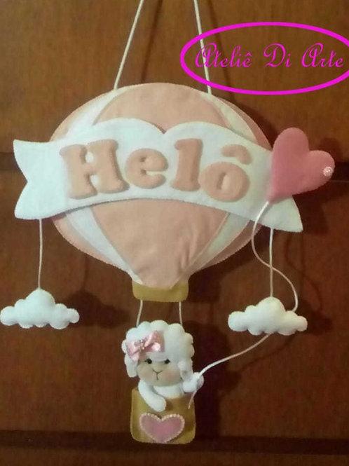 Porta de maternidade balão ovelhinha
