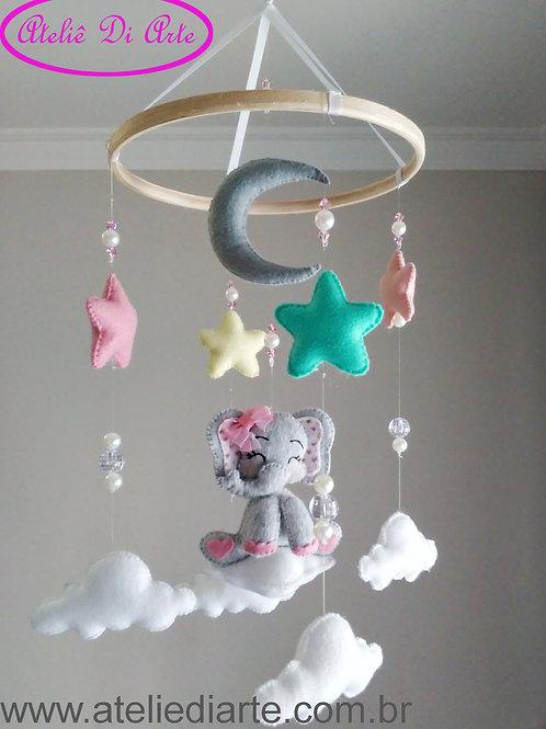Mobile para decoração do quarto do bebê Elefantinho