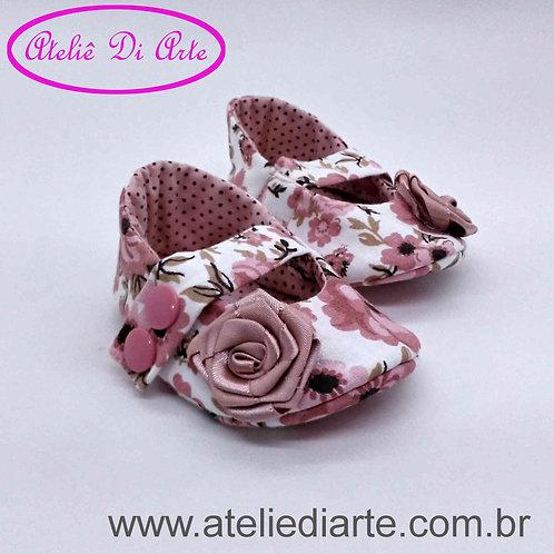 Sapatinho de bebê feminino rosa rosé