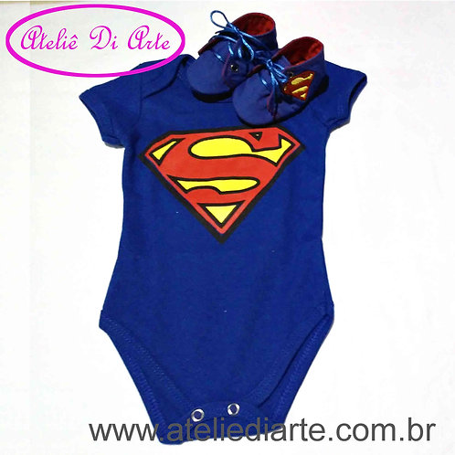 Conjunto de bebê masculino Superman