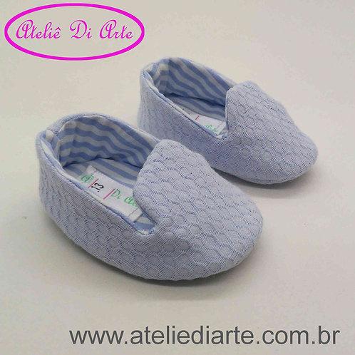 Sapatinho de bebê masculino azul