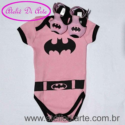 Conjunto de bebê feminino Batgirl