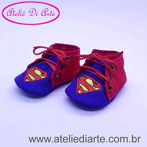Tenis de bebe masculino tênis Superman