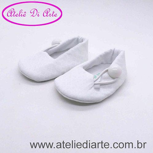 Sapatinho de bebê feminino branco de elástico