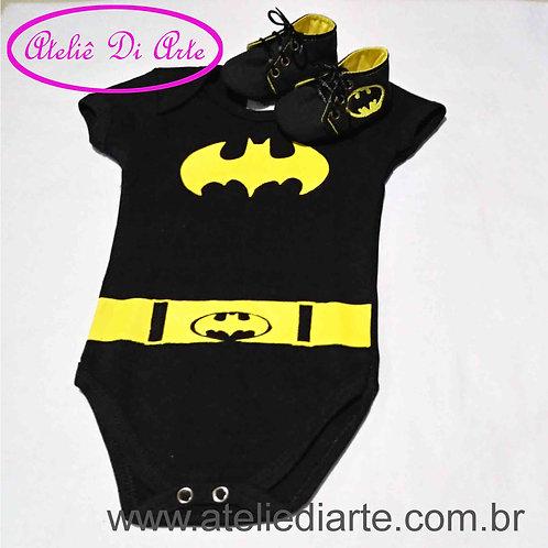 Conjunto de bebê masculino Batman