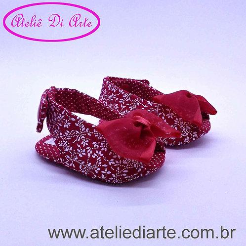 Sapatinho de bebê feminino chanel vermelho