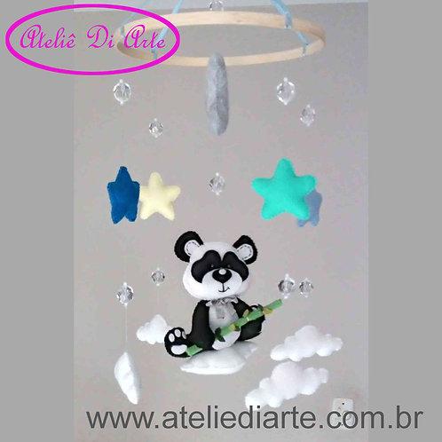 Mobile para decoração do quarto do bebê Panda