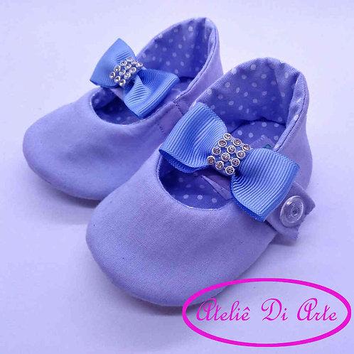 Sapatinho de bebê feminino azulzinho