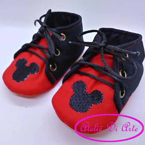 Sapatinho de bebê masculino Mickey Mouse