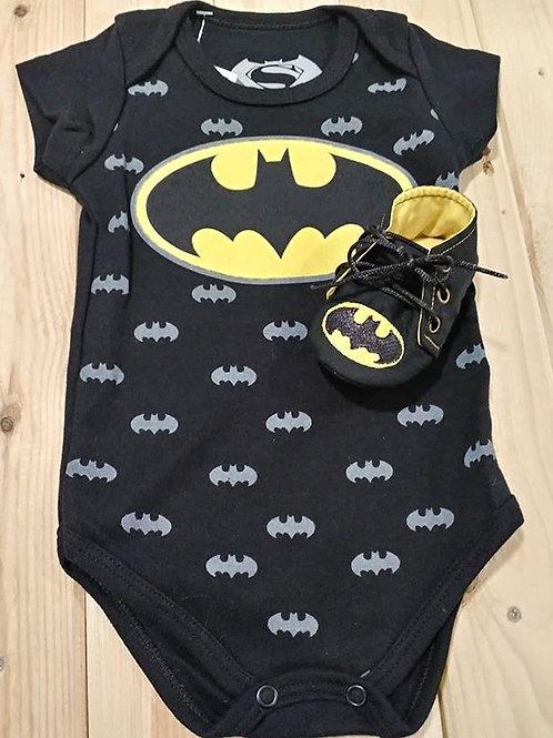 Conjunto de bebe masculino Batman