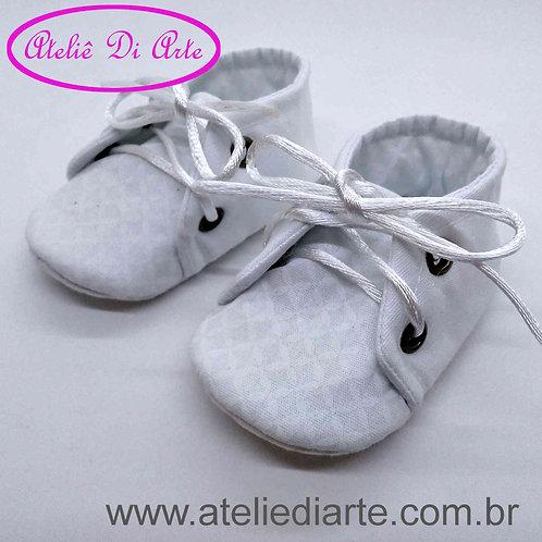 Sapatinho de bebê unissex branco