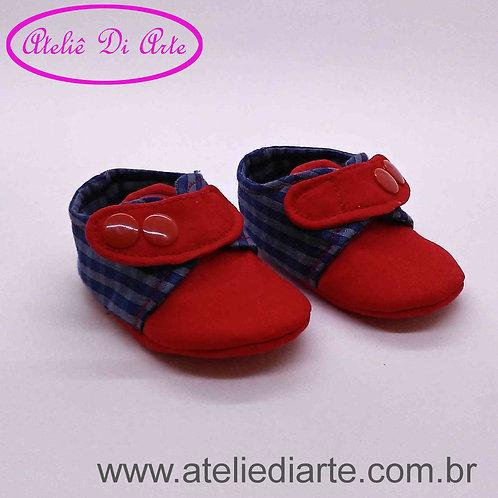 Tenis de bebe masculino bico vermelho