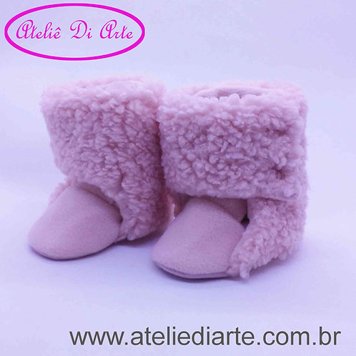 Botinha feminina alpaca rosa
