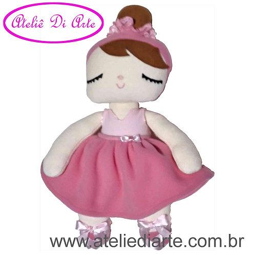 Boneca artesanal tipo Metoo Doll Angela Bailarina Rosa