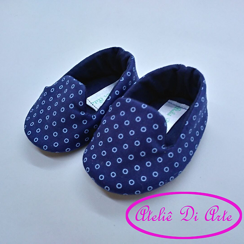 Sapatinho de bebê masculino silp azul