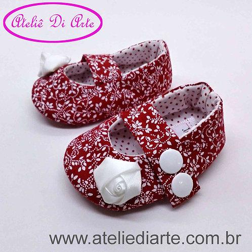 Sapatinho de bebê feminino rosa branca