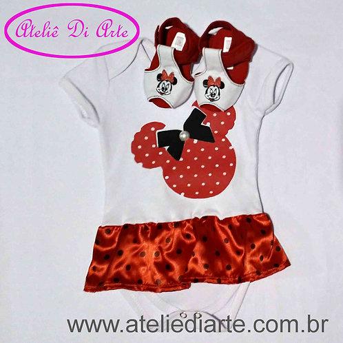 Conjunto de bebê feminino Minnie Mouse