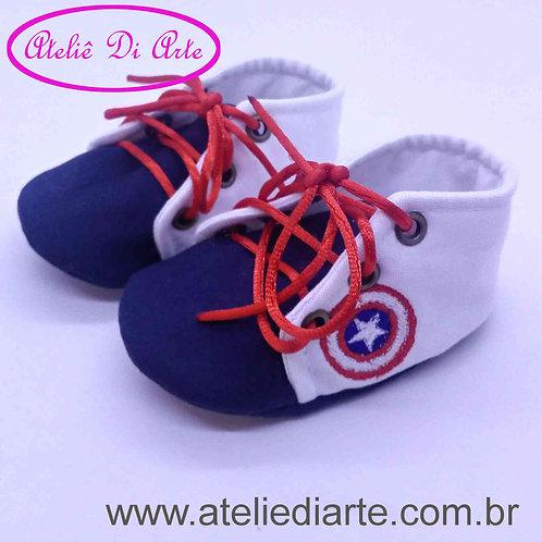 Tênis de bebe masculino escudo Capitão América