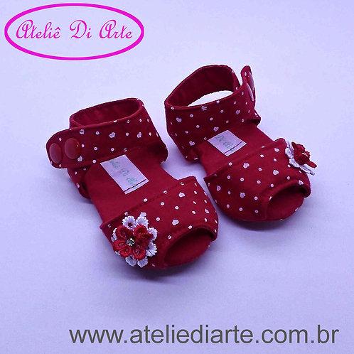 Sandalhinha feminina coração