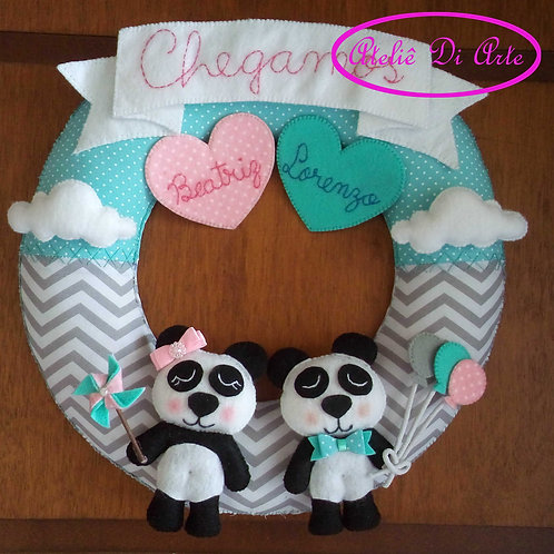 Decoração para o quarto do bebê Guirlanda gêmeos