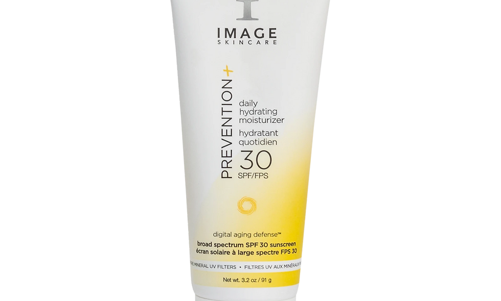 Prevention+ Hydrating Moisturizer SPF30 offers broad-spectrum pure mineral protection plus Digital Aging Defense™