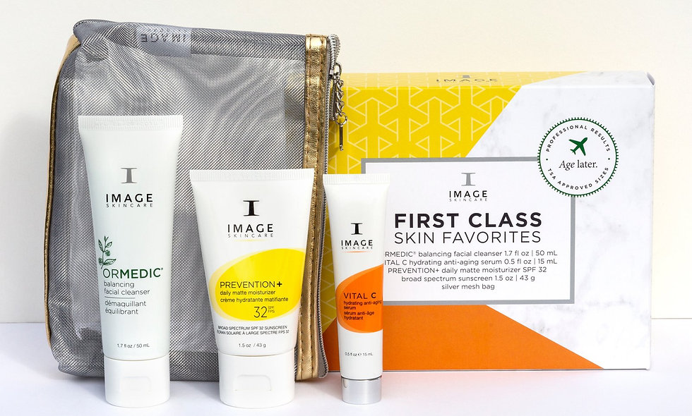 First Class Skin Favorites Kit features healthy skin essentials and IMAGE best-sellers in a curated collection for travel