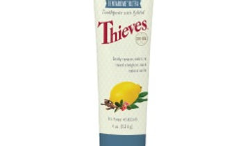 Thieves Dentarome Ultra Toothpaste uses essential oils and naturally derived ingredients for a fresh, clean mouth