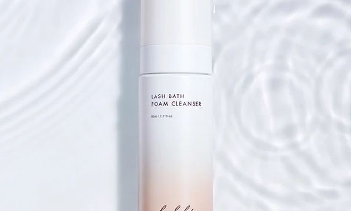 Lash Bath Foam Cleanser keeps lids and lashes clean, healthy and nourished