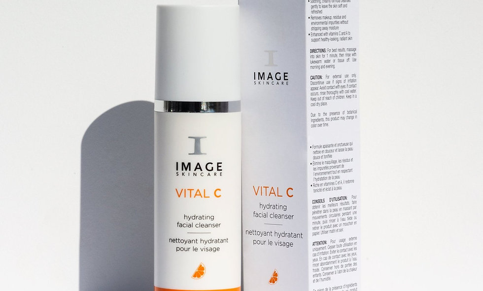 VITAL C hydrating facial cleanser and packaging