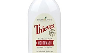 Thieves Fresh Essence Mouthwash freshens and provides a whole-mouth clean using our signature Thieves oil blend