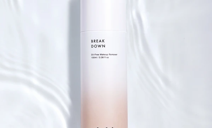 Breakdown Oil Free Makeup Remover feels like water yet emulsifies on contact to completely dissolve even long-wear eye makeup