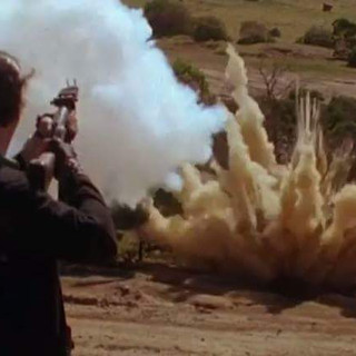 Dual M79 firing and explosion