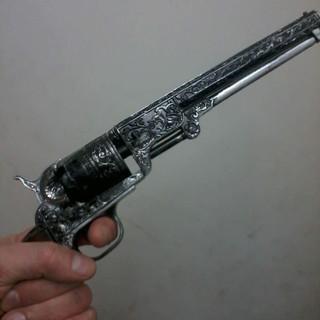 Worn Colt percussion revolver