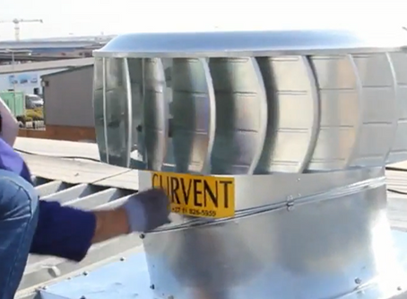 MAINTENANCE ON ROOFTOP TURBINE VENTS BY CURVENT INTERNATIONAL