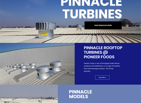 A WEBSITE FOR CURVENT'S PINNACLE TURBINES